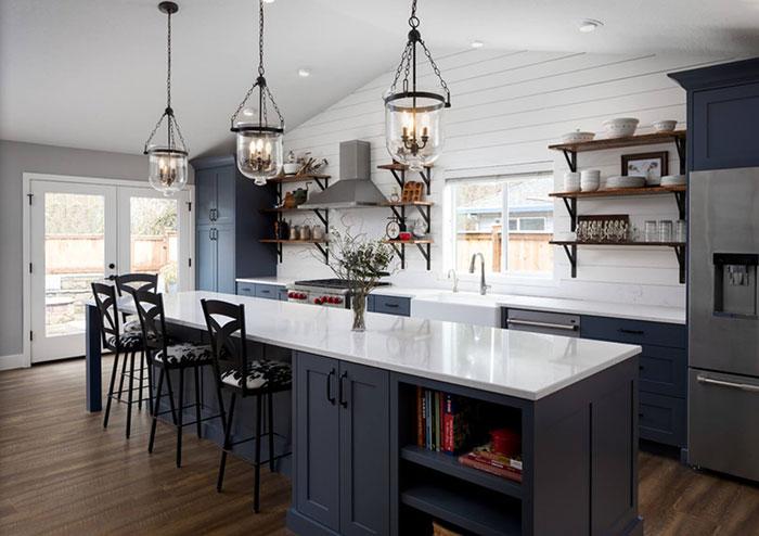 تکنیک های انتخاب رنگ کابینت، دیوار و کاشی در آشپزخانه های