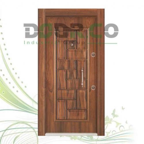 درب ضد سرقت لوکس برجسته روکش گردو کد 1020