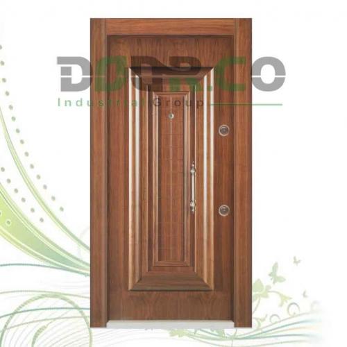 درب ضد سرقت لوکس برجسته روکش گردو کد 1022