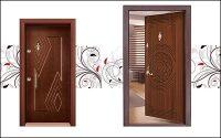 درب ضد سرقت چوبی